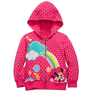 Rainbow Minnie Mouse Hoodie Jacket