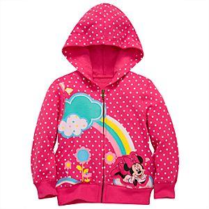 Rainbow Minnie Mouse Hoodie Jacket