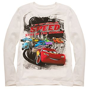 Organic Long Sleeve Disney Cars Tee