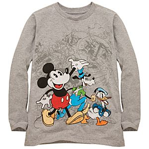 Organic Long Sleeve Vintage Mickey Mouse and Friends Tee