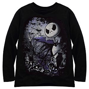 Organic Long-Sleeve Jack Skellington Tee