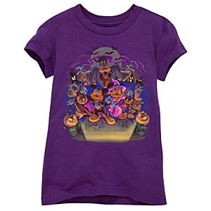Organic Halloween Mickey and Friends Tee -- Purple