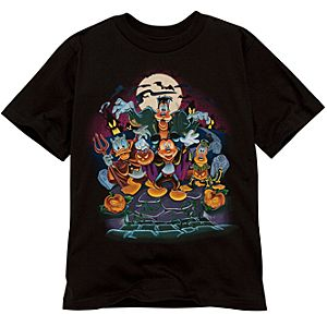 Organic Graveyard Mickey Mouse and Friends Halloween Tee