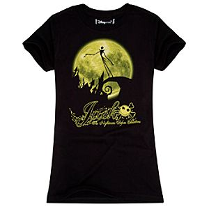Organic Full Moon Jack Skellington Tee for Women