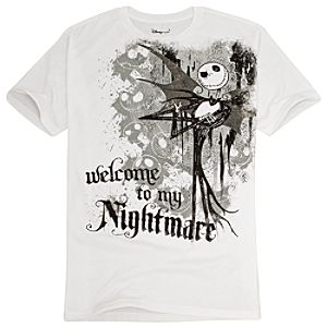 Organic Welcome to My Nightmare Jack Skellington Tee for Men