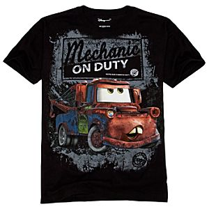 Organic Disney Cars Tow Mater Tee for Adults