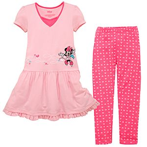 Skating Minnie Mouse Dress and Legging Set