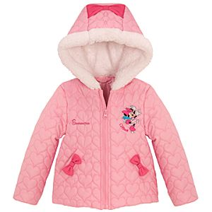 Personalized Skating Minnie Mouse Puffy Jacket