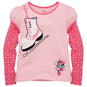 Double-Up Skating Minnie Mouse Tee