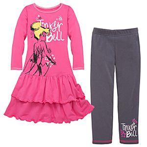 Star Power Tinker Bell Dress and Legging Set -- 2-Pc.