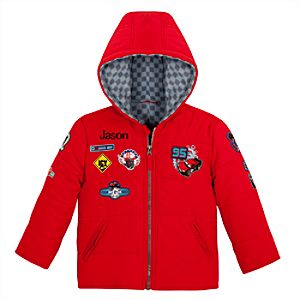 Personalized Lightning McQueen Puffy Jacket