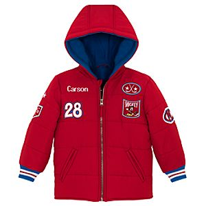 Personalized Hockey Mickey Mouse Puffy Jacket