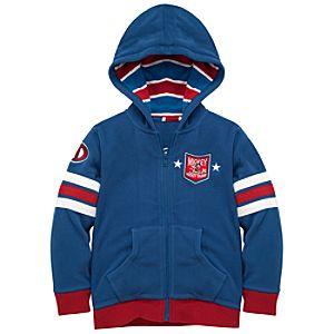 Fleece Hoodie Hockey Mickey Mouse Jacket
