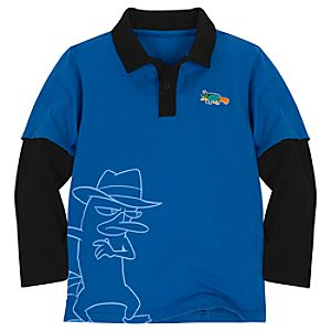 Double-Up Long Sleeve Phineas and Ferb Polo Shirt
