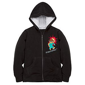 Fleece Hoodie Phineas and Ferb Agent P Jacket