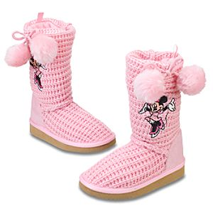 Knitted Minnie Mouse Boots