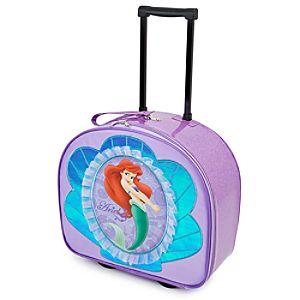 Rolling Glitter Ariel Luggage