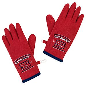 Fleece Lightning McQueen Gloves