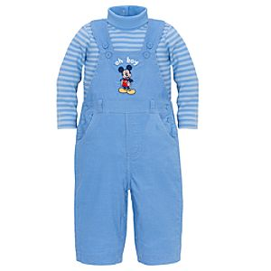 Oh Boy Mickey Mouse Overall Set -- 2-Pc.