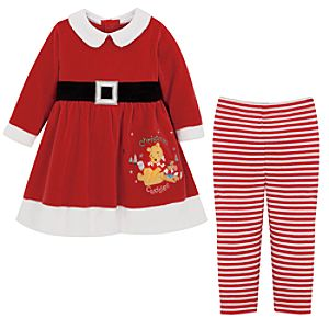 Christmas Cuddles Pooh Dress and Legging Set
