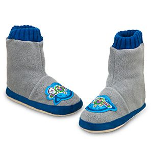 Buzz Lightyear Slipper Booties for Boys