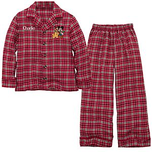 Personalized Boys Holiday Mickey Mouse Pajamas