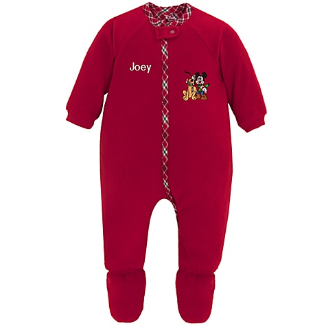 Personalized Holiday Mickey Mouse Sleeper