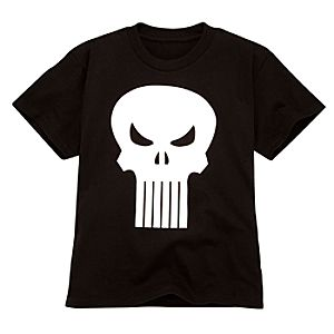 Glow-in-the-Dark Punisher Tee for Boys