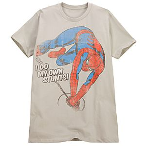 Slim Fit I Do My Own Stunts Spider-Man Tee for Men