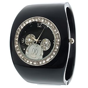Black Cuff Mickey Mouse Watch for Women