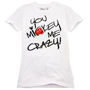 Organic You Mickey Me Crazy! Mickey Mouse Tee for Adults