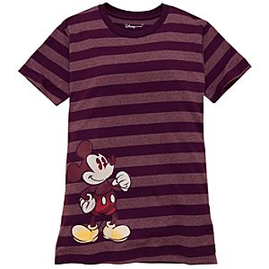 Organic Striped Mickey Mouse Tee for Women