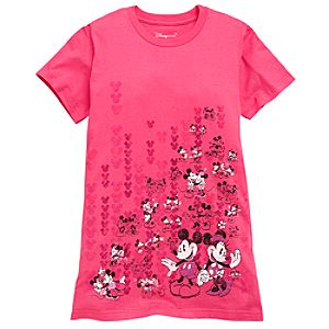 Organic Minnie and Mickey Mouse Tee for Women