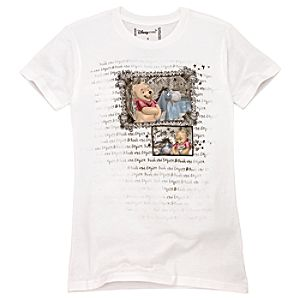 Organic Eeyore and Winnie the Pooh Tee for Women