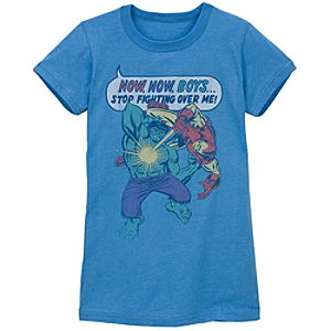 Fitted Now Now Boys Marvel Tee by Junk Food for Women