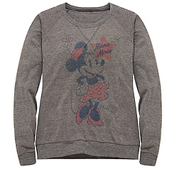 Fitted Long-Sleeve Minnie Mouse Tee by Junk Food for Women
