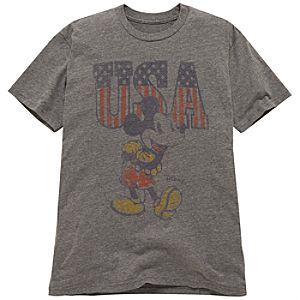 Slim Fit U.S.A. Mickey Mouse Tee by Junk Food for Men