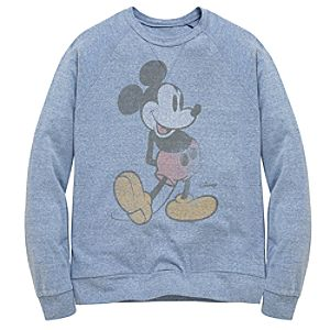 Slim Fit Long-sleeve Mickey Mouse Tee by Junk Food for Men