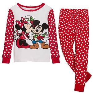Holiday Minnie and Mickey Mouse PJ Pal