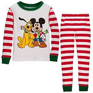 Holiday Pluto and Mickey Mouse PJ Pal