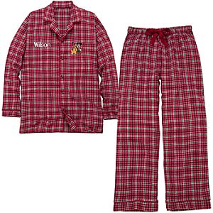 Personalized Mens Holiday Mickey Mouse Pajamas