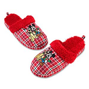 Holiday Adult Mickey Mouse Slippers
