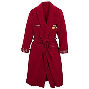 Personalized Adult Holiday Mickey Mouse Robe