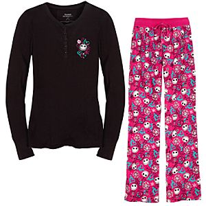 Thermal and Flannel Jack Skellington Pajamas