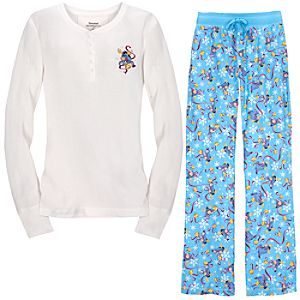 Thermal and Flannel Eeyore Pajamas