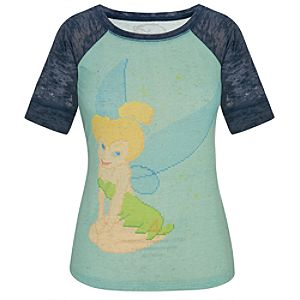 Fitted Raglan Cross Stitch Tinker Bell Tee