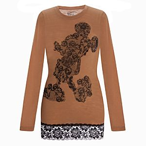 Fitted Lace Minnie Mouse Top