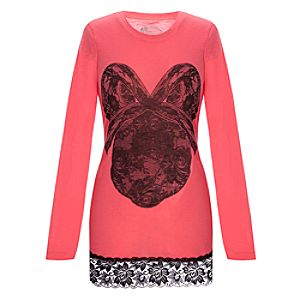 Fitted Lace Mickey Mouse Tunic Top