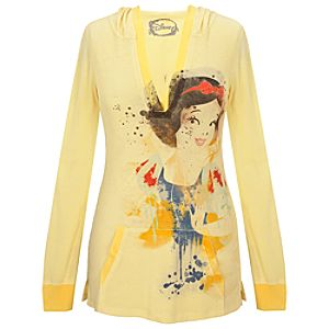 Fitted Hoodie Snow White Top