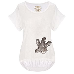 Fitted Mickey Mouse Glove Top by Disney Couture